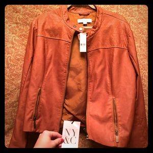 NY&C chestnut jacket NWT